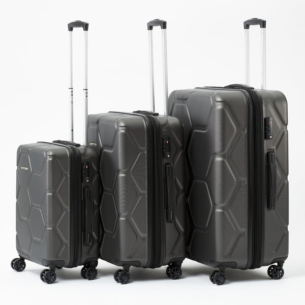 Moeraki Charcoal Luggage Set