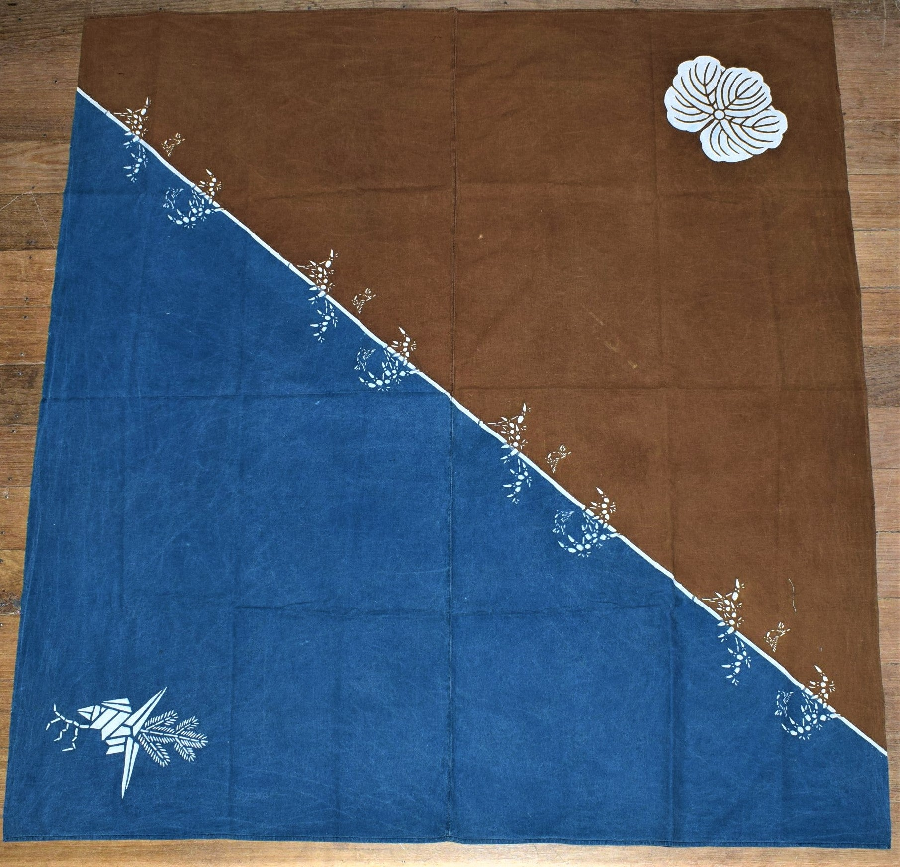 Indigo and Brown Furoshiki