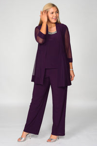 R & M Richards mother of the Bride/Groom/ Formal 2 PC Pants Suit