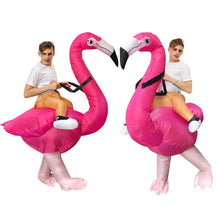 Load image into Gallery viewer, Hot Flamingo Inflatable Costumes Halloween Purim Alien Costume For kids Adult Men Women Dress Inflatable Costume Party Carnival