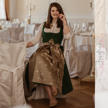 Laden Sie das Bild in den Galerie-Viewer, Midi Dirndl Josefine in Dunkelgrün