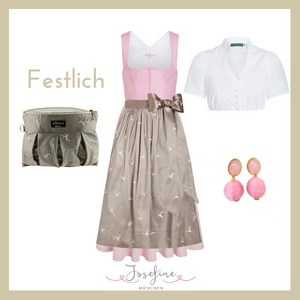 Mini Dirndl Josefine in Rosa