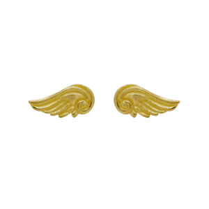 Hunt Of Hounds Arion Stud Earrings in gold. Detailed wing studs. Unisex.