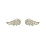 Hunt Of Hounds Arion Stud Earrings in silver. Detailed wing studs. Unisex.