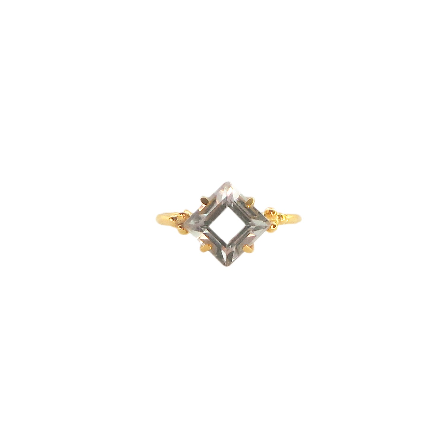 Hunt Of Hounds Tulang Solitaire Ring with Green Amethyst.