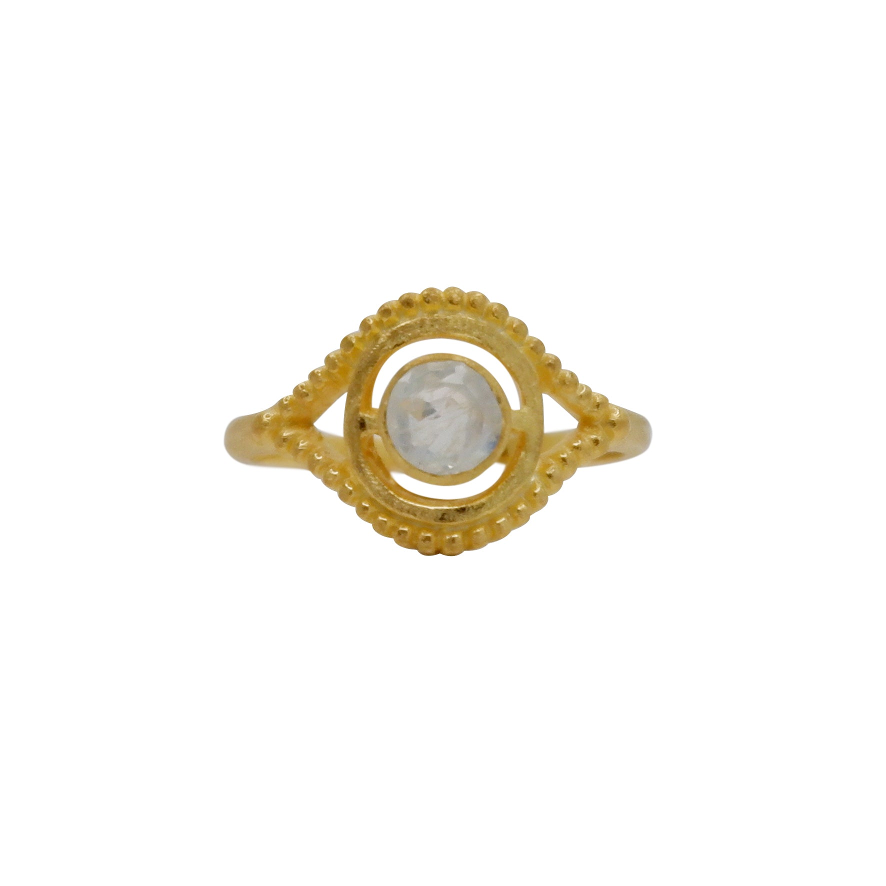 Hunt Of Hounds Nyx Ring. Eye ocular shape with moonstone.
