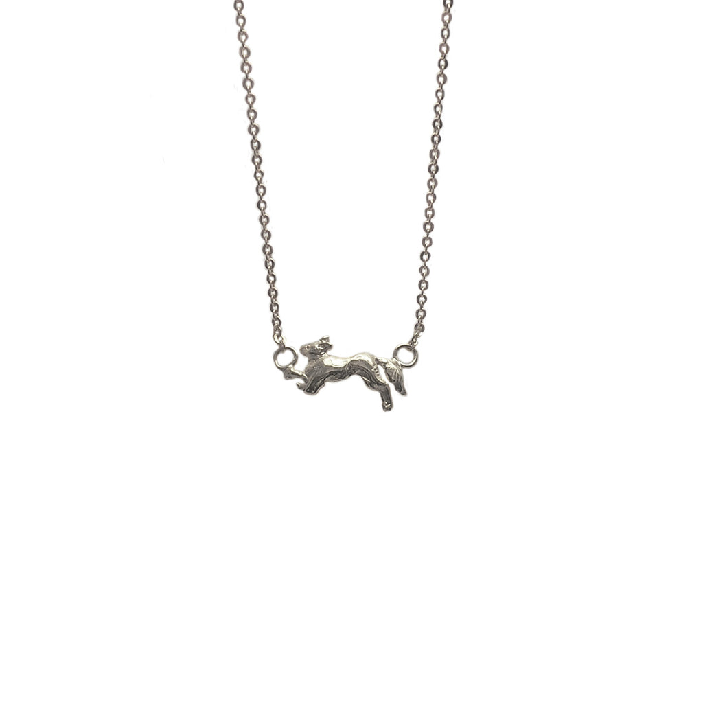 Hunt Of Hounds Vulpes Necklace. Jumping fox.