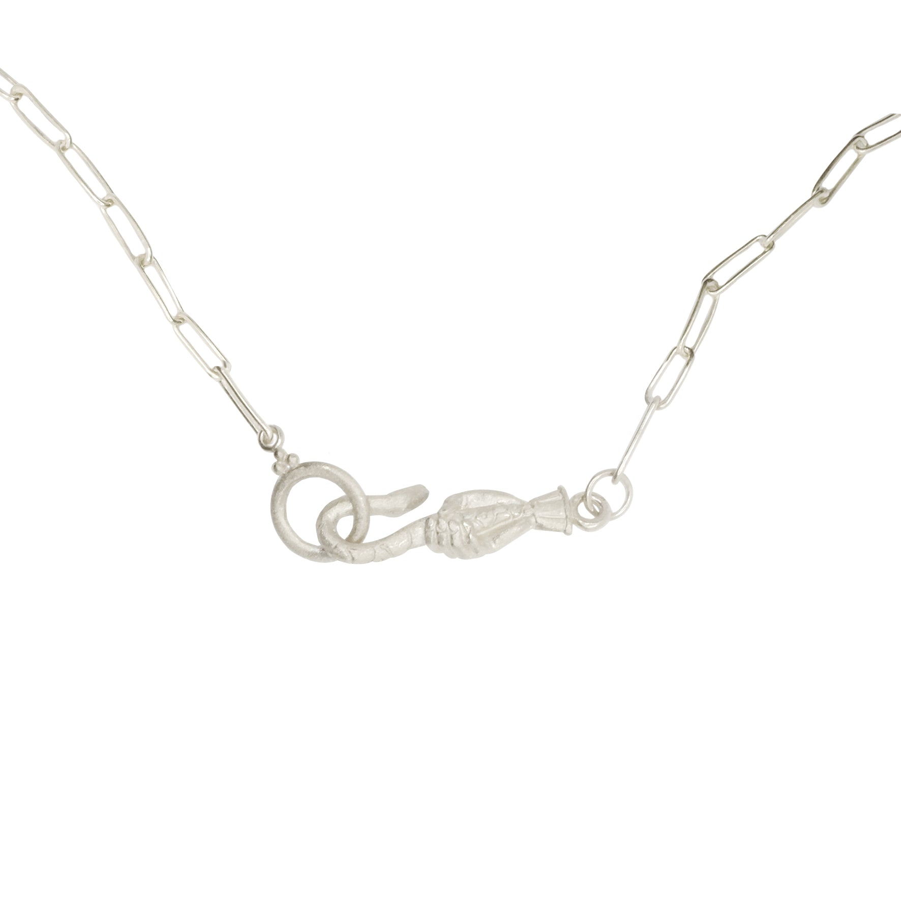 Serpent Hook Chain Necklace