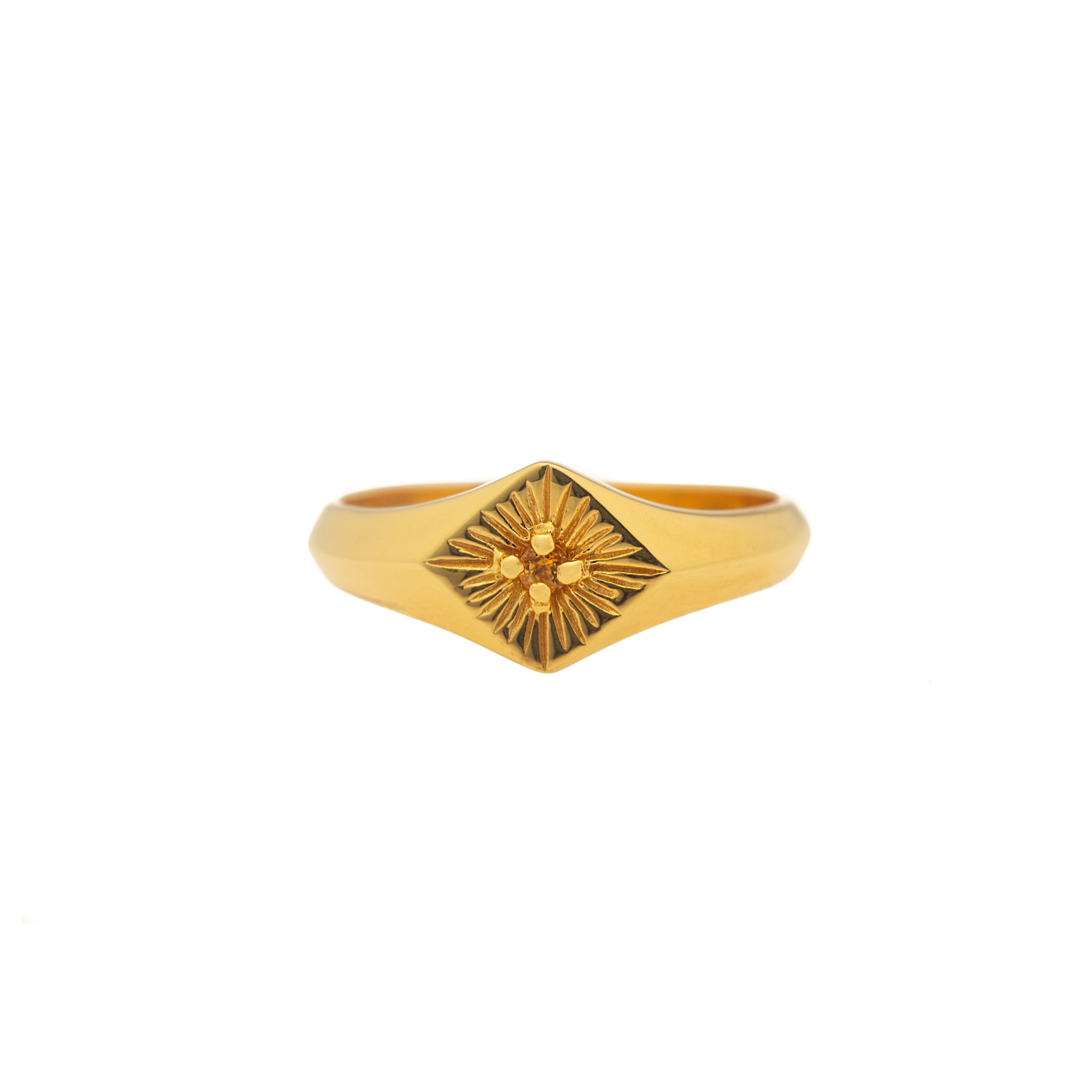 Hunt Of Hounds Sunniva Ring. Gold ring with citrine. Sun. Light. Happiness. Joy.