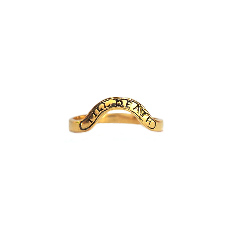 Hunt Of Hounds Till Death Banner Ring. Curved for stacking.