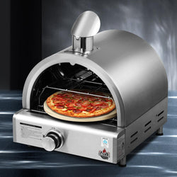 Grillz Portable Pizza Oven Camping Grill LPG Cooking Gas Stove Stainless Steel