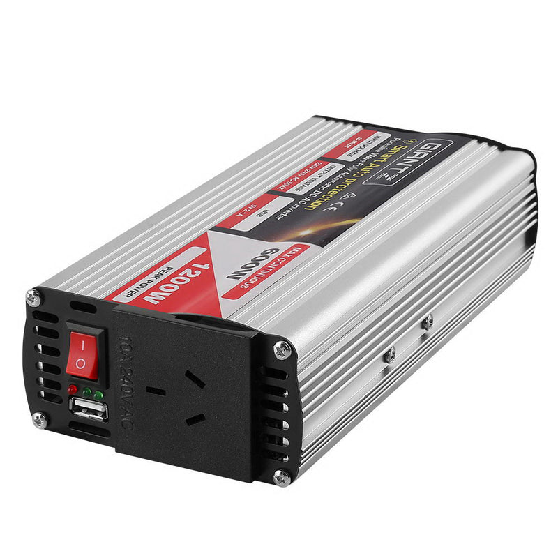 Giantz 600W Puresine Wave DC-AC Power Inverter