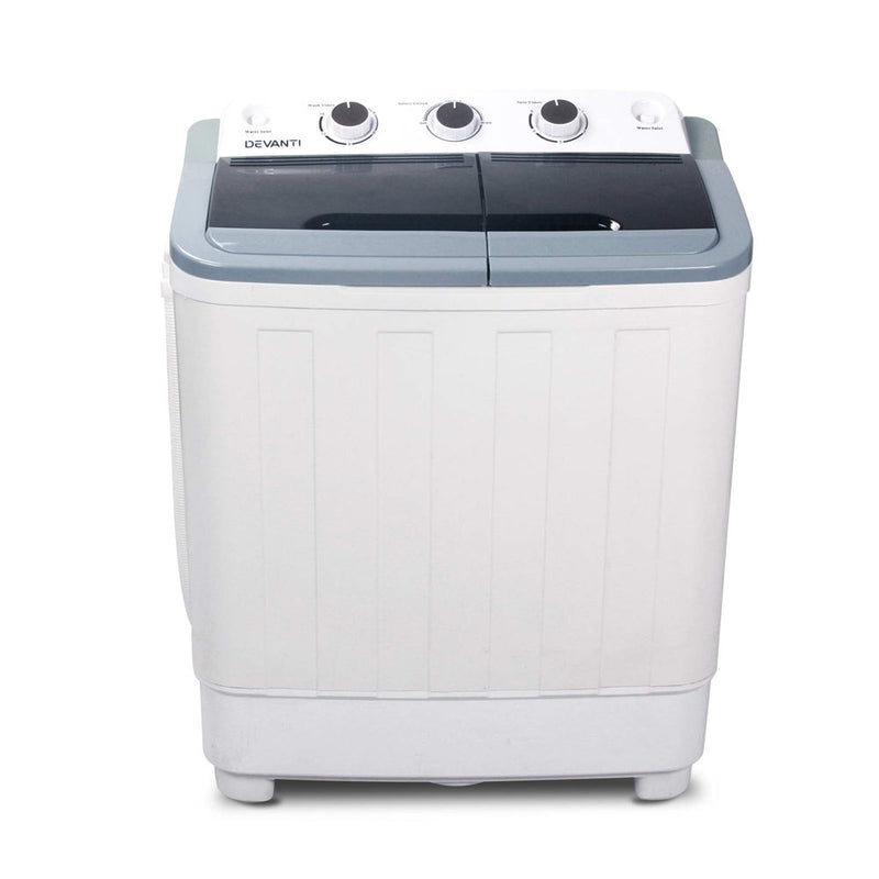 Devanti 5KG Mini Portable Washing Machine - White
