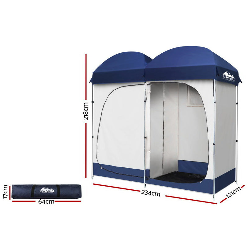 Weisshorn Camping Shower Tent - Double
