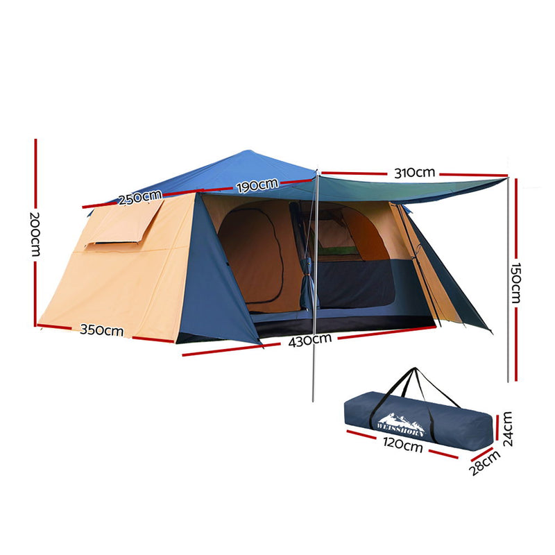 Weisshorn Instant Up Camping Tent 10 Person Pop up Tents Swag Family Hiking Dome Beach