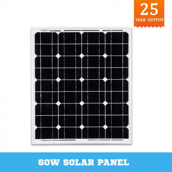 12V 60W Solar Panel Kit Home Generator Caravan Camping Power Mono Charging
