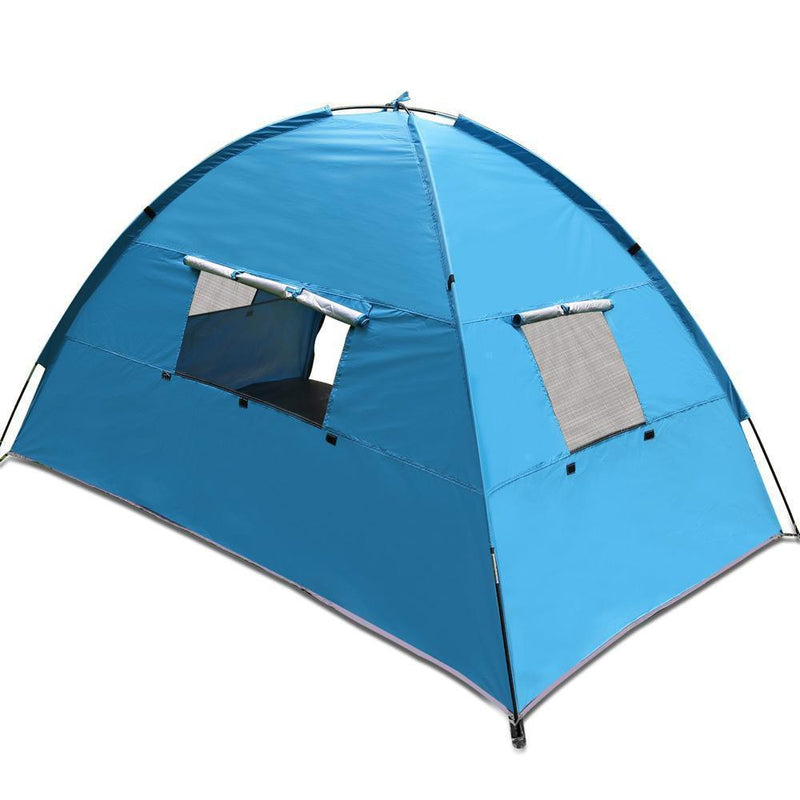 Weisshorn 2-4 Person Camping Tent - Blue DSZ