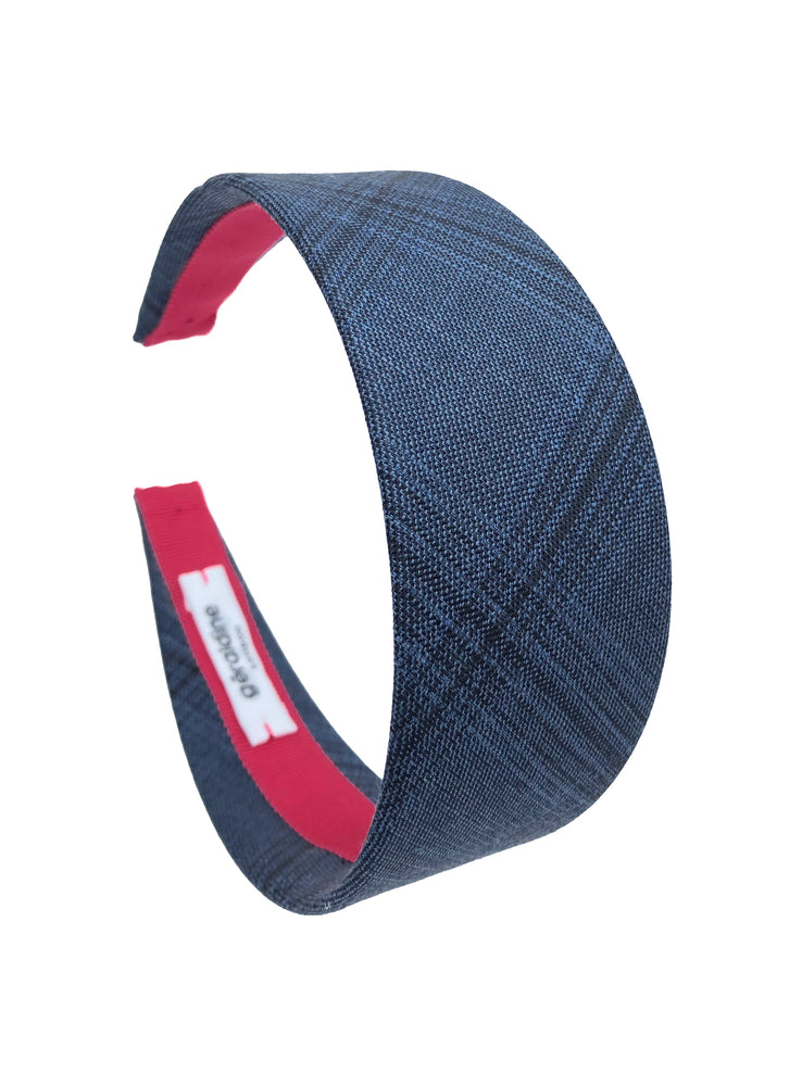 Suit Up! Flat Wide Headband in Blue