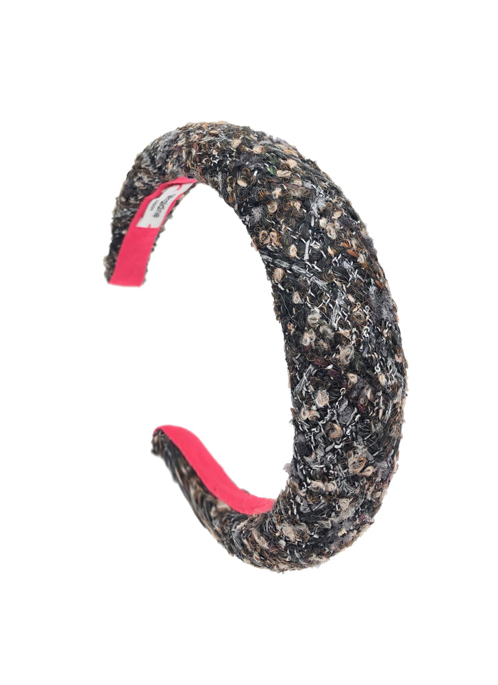 Bouclé Padded Headband in Brown