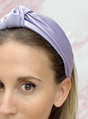 Chelsea Top Knot Headband Lavender