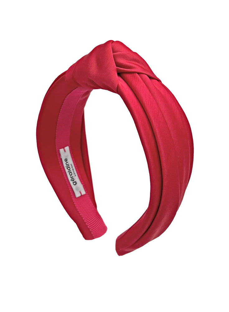 Chelsea Top Knot Headband Red