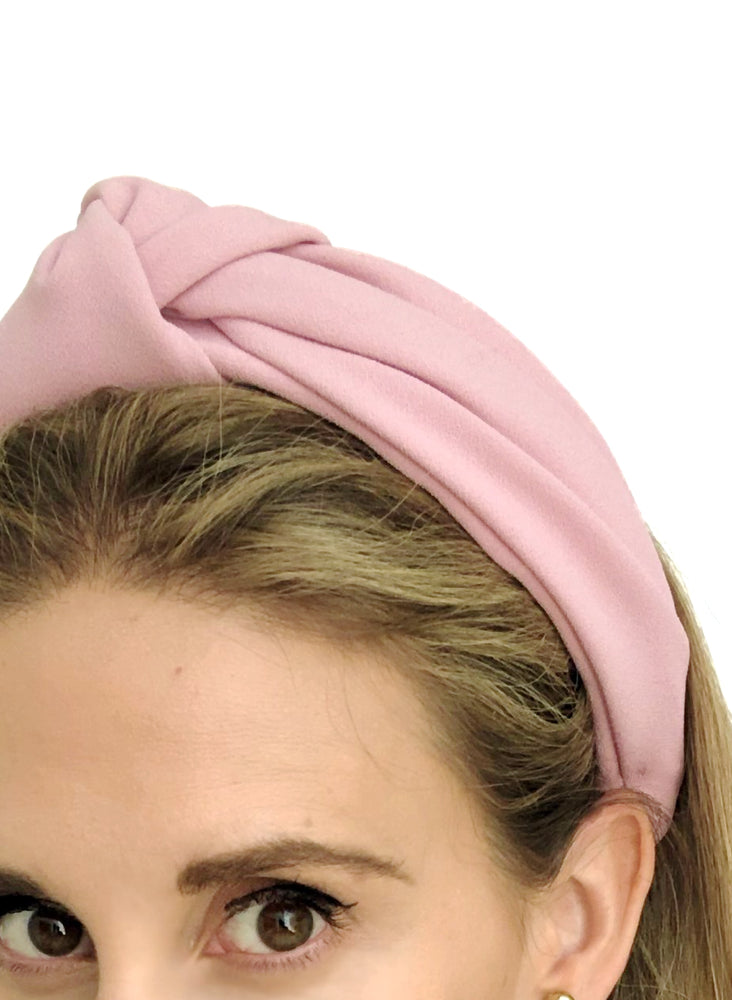 Chelsea Top Knot Headband Pink