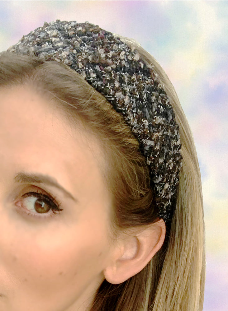 Poppy Flat Wide Headband Brown