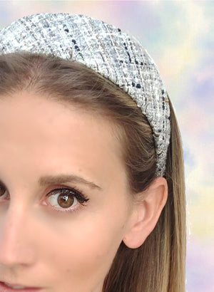 Load image into Gallery viewer, Poppy Flat Wide Headband Grey