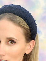 Poppy Padded Headband Navy