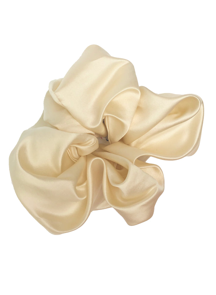 Ivory Oversized Satin Scrunchie