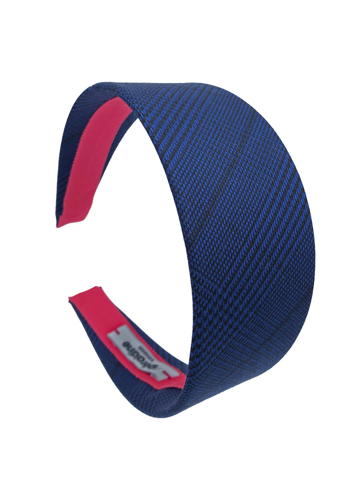 Suit Up! Flat Wide Headband in Electric blue