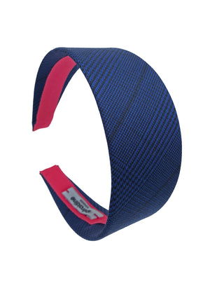 Load image into Gallery viewer, Suit Up! Flat Wide Headband in Electric blue