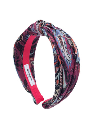 Etro fabric Top Knot Headband