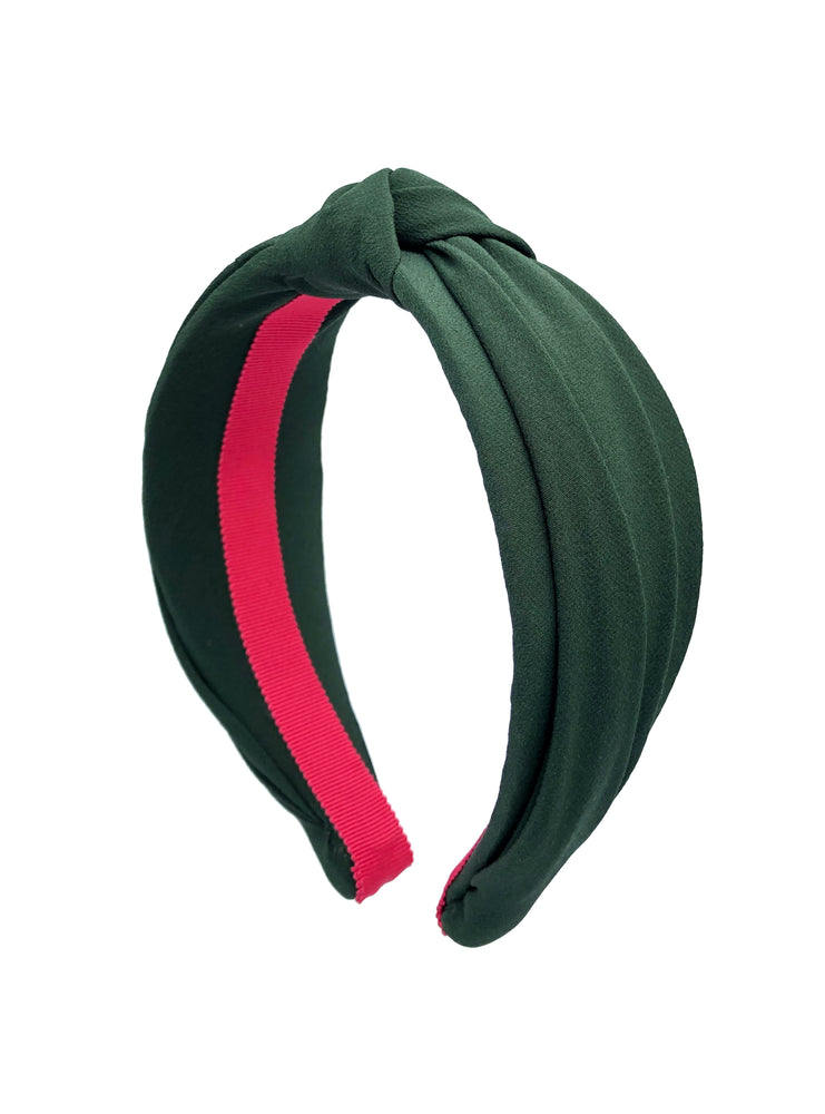 Forest Green Top Knot Headband