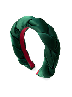 Load image into Gallery viewer, Emerald Green Braided Headband