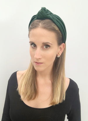 Lucie Green Leather Top Knot
