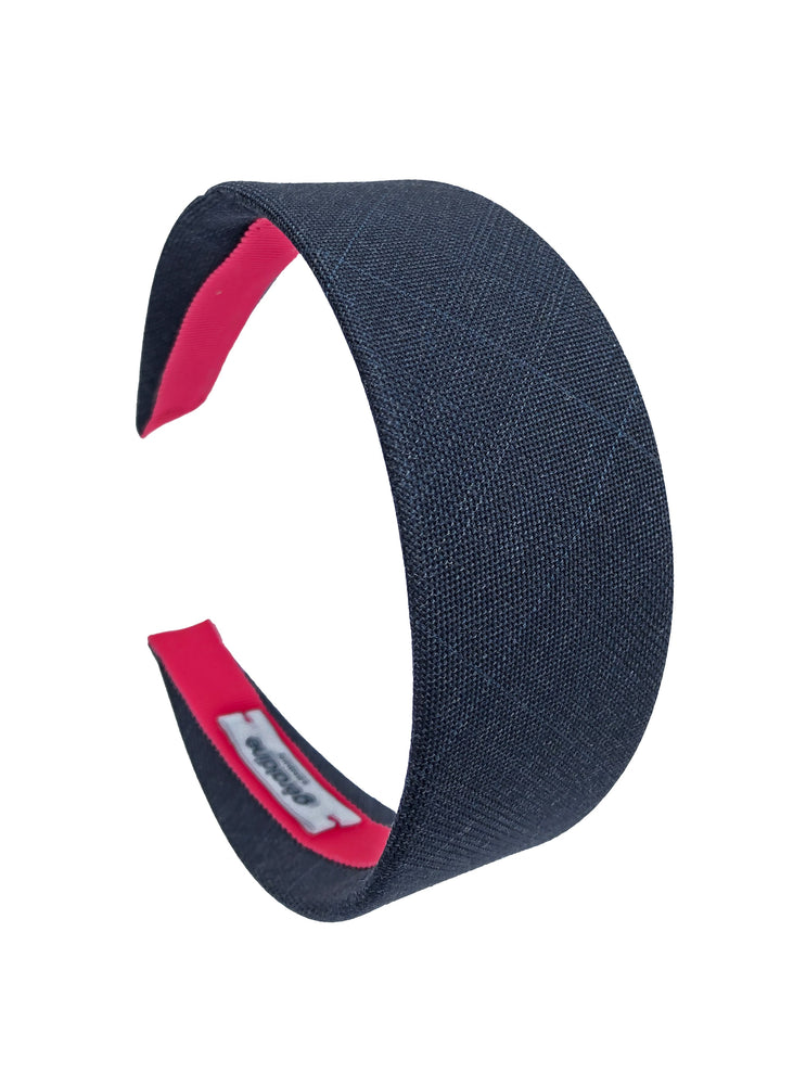 Suit Up! Flat Wide Headband in Blue Grey