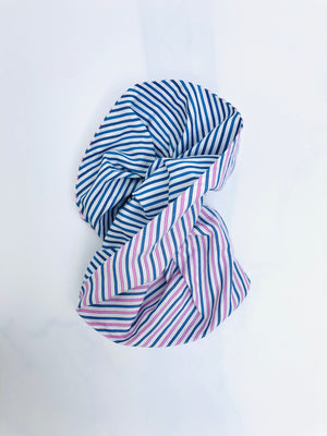 Stripy Cotton Oversized Scrunchie