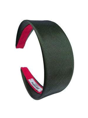 Load image into Gallery viewer, Metallic Green Flat Wide headband
