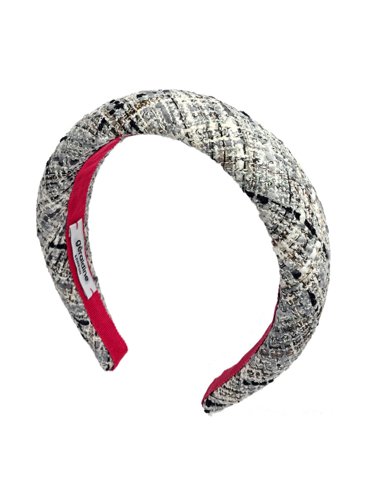 Poppy Padded Headband Grey