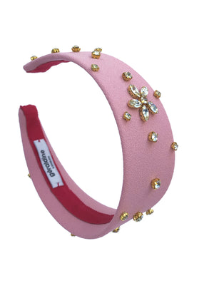 Load image into Gallery viewer, Crystal Celeste Wide Pink Flat Band