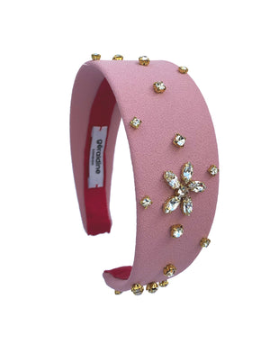 Crystal Celeste Wide Pink Flat Band