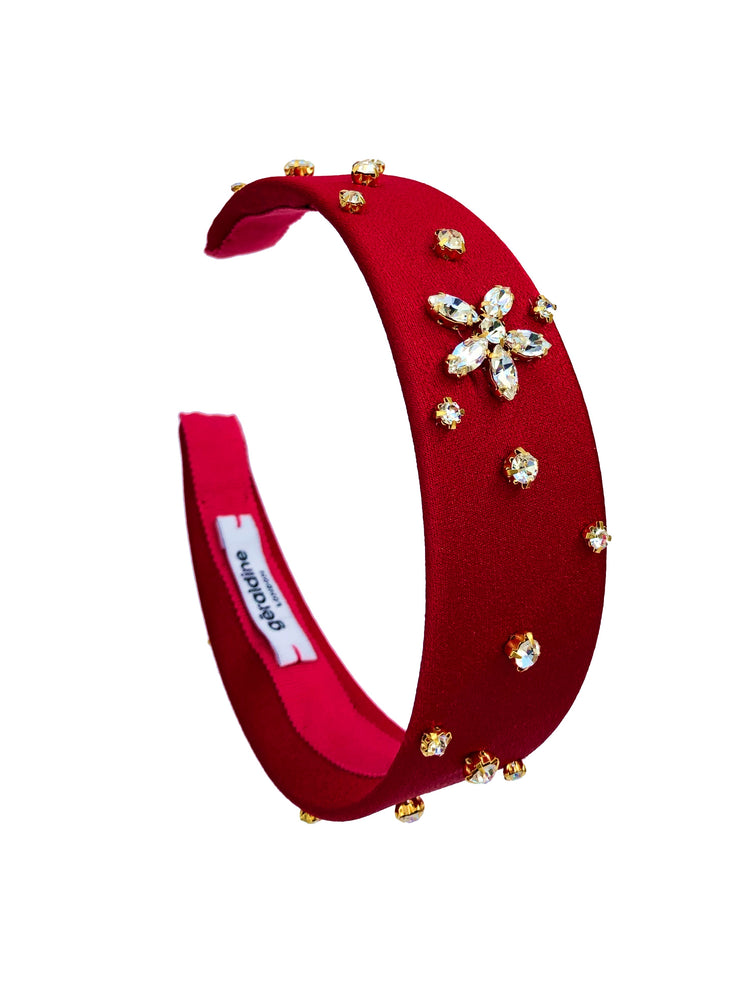 Crystal Celeste Red Alice Band