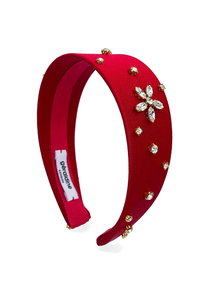 Crystal Celeste Wide Red Flat Band