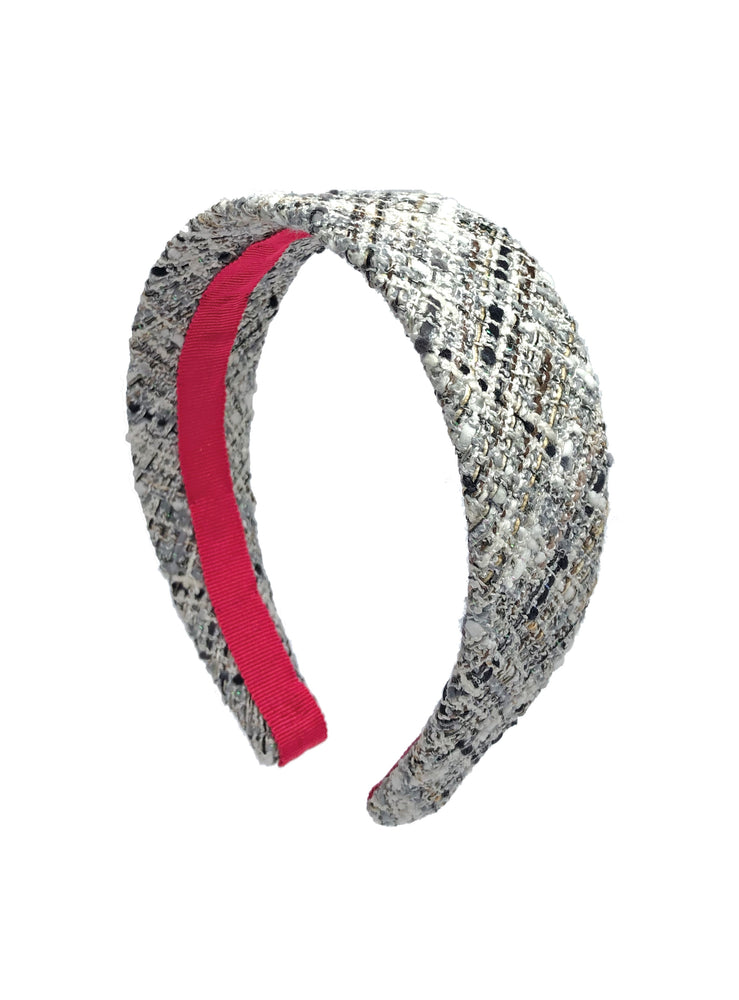 Poppy Flat Wide Headband Grey