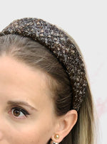 Poppy Flat Headband Brown