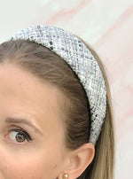 Poppy Flat Headband Grey