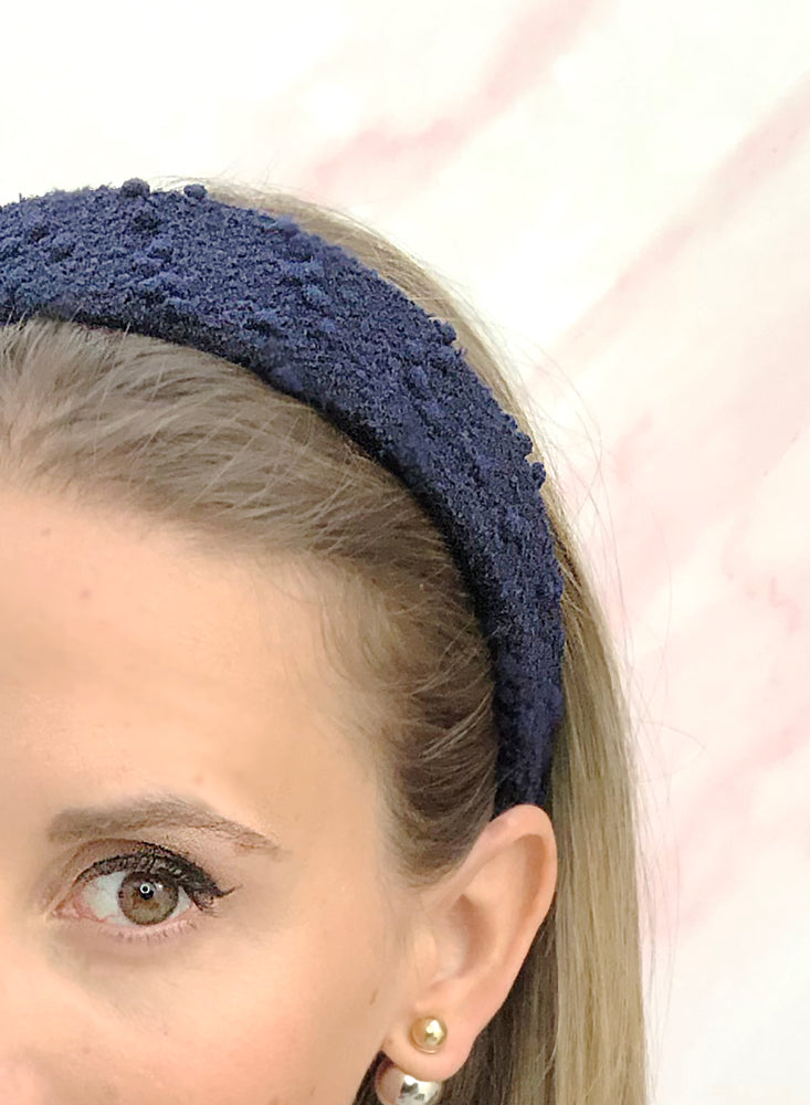 Poppy Flat Headband Navy