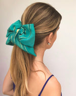 French Riviera Silk Bow Scrunchie