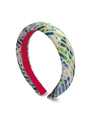 Load image into Gallery viewer, Floral Organza Padded Alice Band